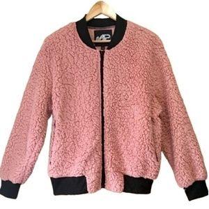 Dusty Rose Teddy Bear Coat